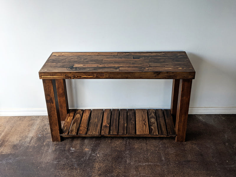 Reclaimed Wood Buffet Console Server Table - Kase Custom