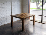 Reclaimed Wood Classic Farm Dining Table - Kase Custom