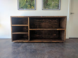 provincial reclaimed wood record media music console