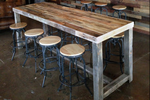Reclaimed Wood Community Bar Table