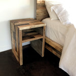 Reclaimed Wood Modern Waterfall Side Table - Kase Custom