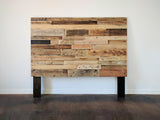 natural reclaimed wood headboard