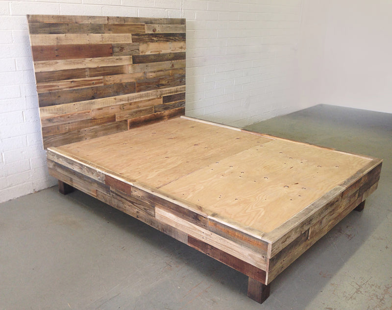 Reclaimed Wood Platform Bed - Kase Custom
