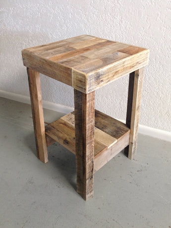 natural reclaimed wood nightstand