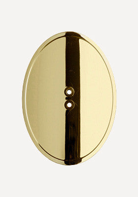 Gold Oval Shield