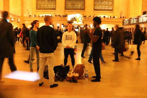 Playing Statue in Grand Central Station