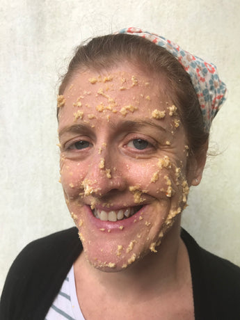 Ginger Stone's Spooktacular Pumpkin and Oats Face Mask