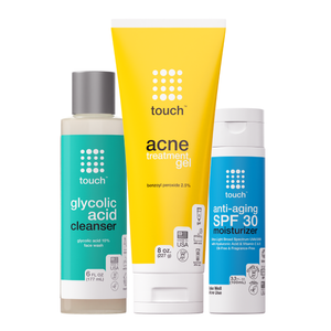 Acne Bundle - Face Wash, Acne Treatment Gel, SPF30 Moisturizer