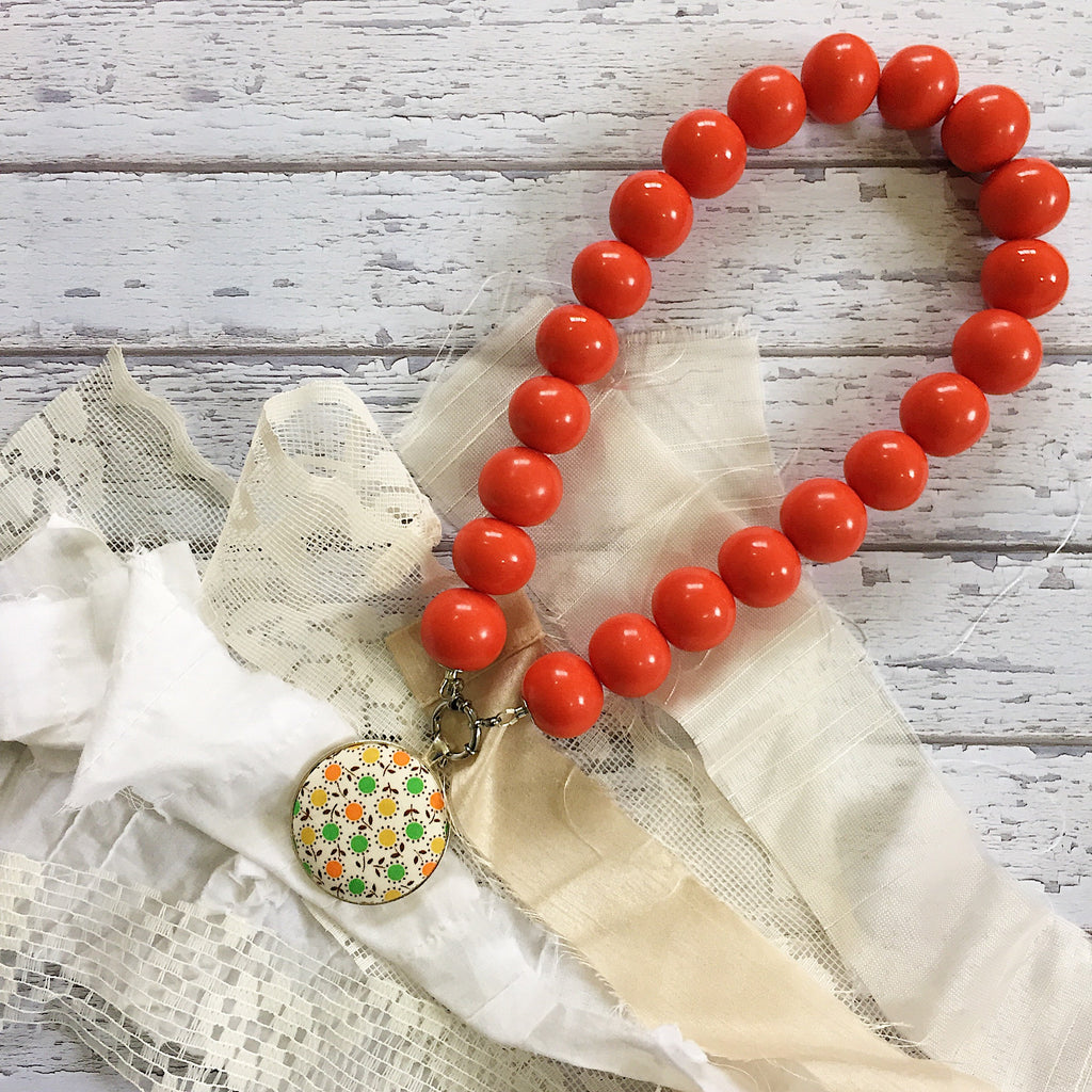 'Bedrock' Orange Necklace