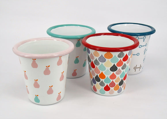 Enamel Tumblers - Mixed Design (4 pack)