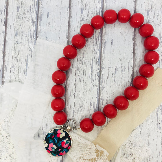 'Bedrock' Red Necklace