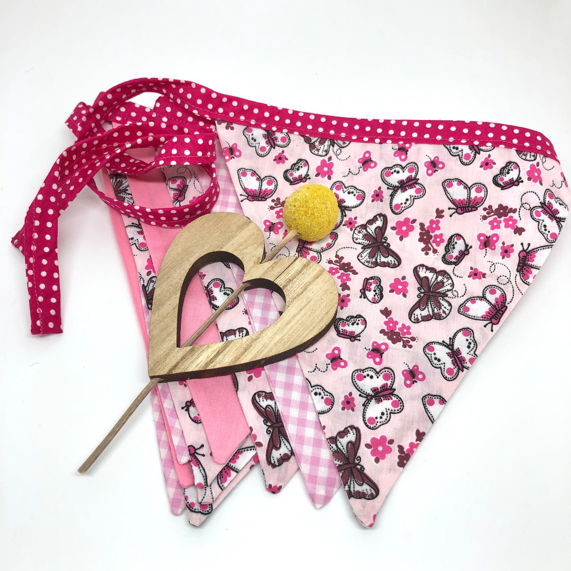 Butterfly Pink Bunting