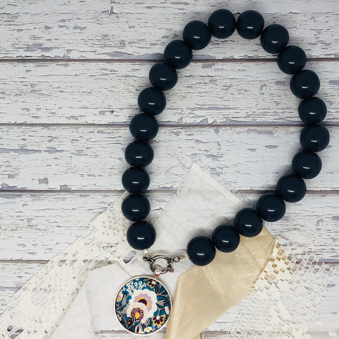 'Bedrock' Navy Necklace