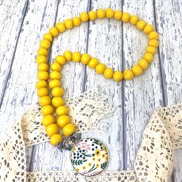 'Pebbles' Yellow Necklace