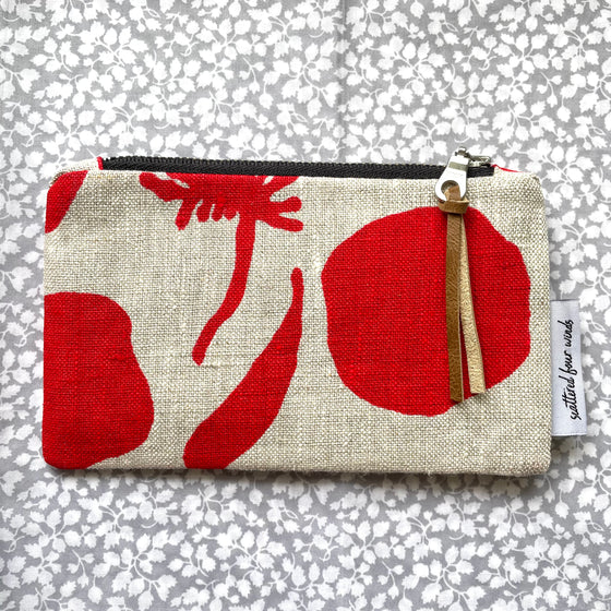 Red Seedpods Coin Purse