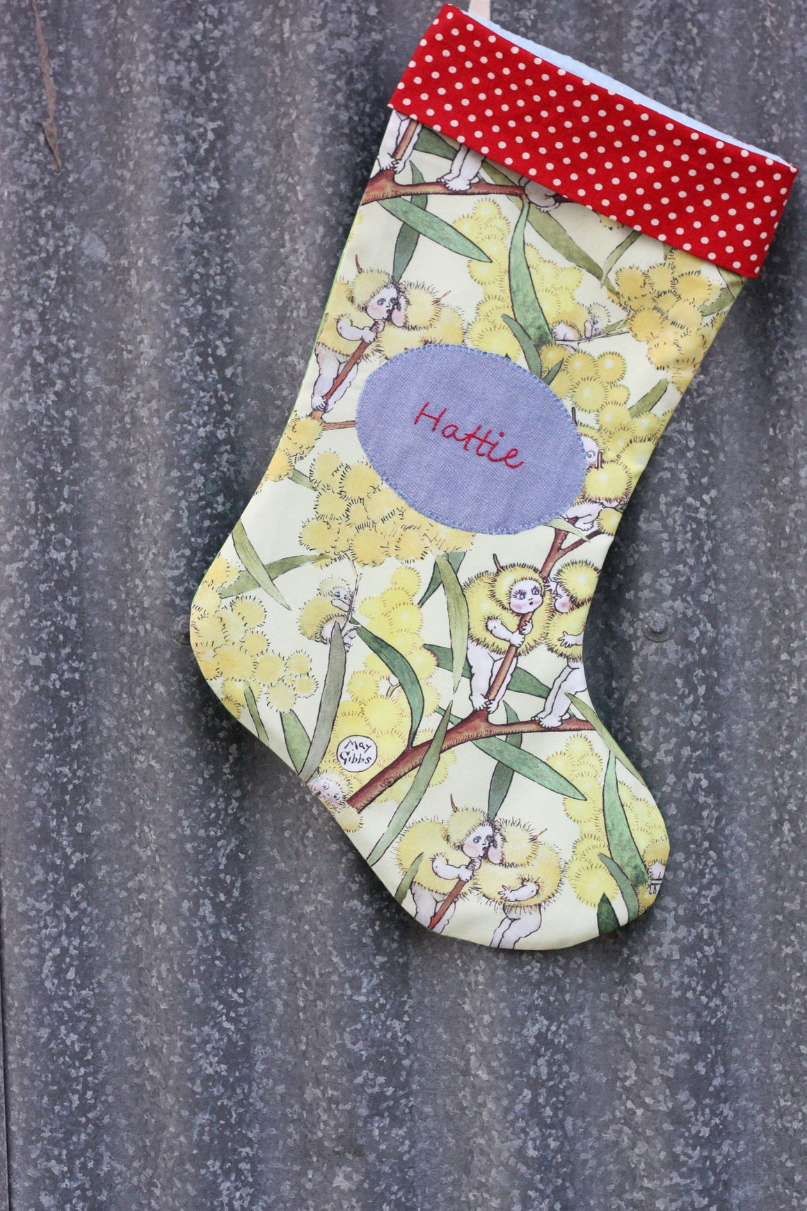 May Gibbs Wattle Babies Stocking