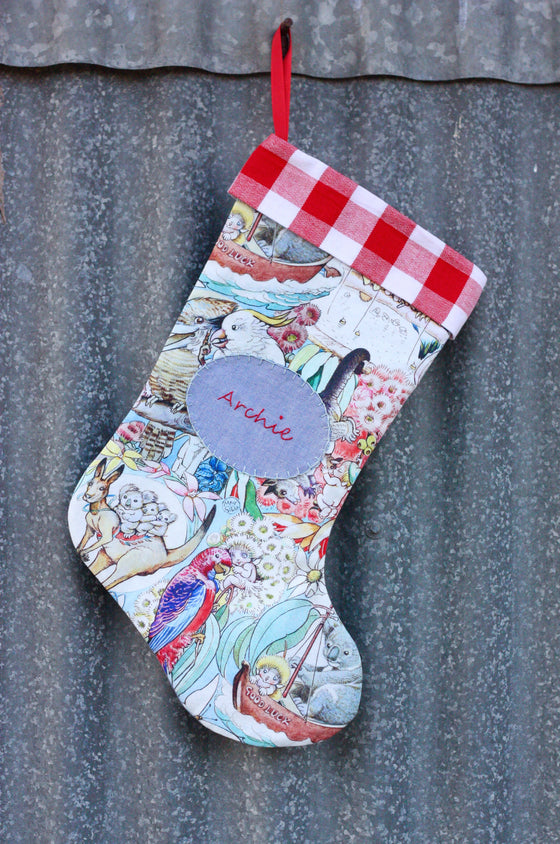 May Gibbs Bush Babies Stocking