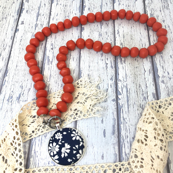 'Pebbles' Orange Necklace