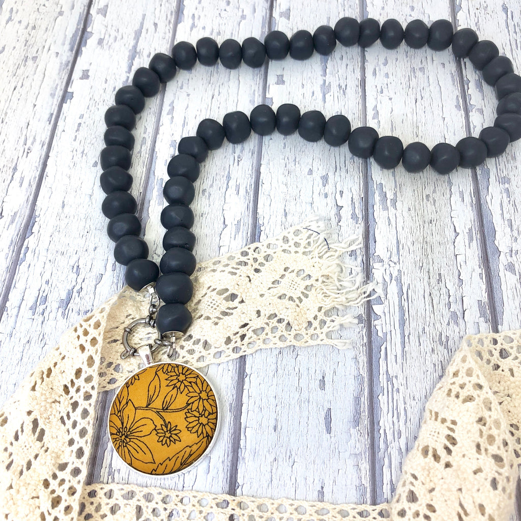 'Pebbles' Navy Necklace