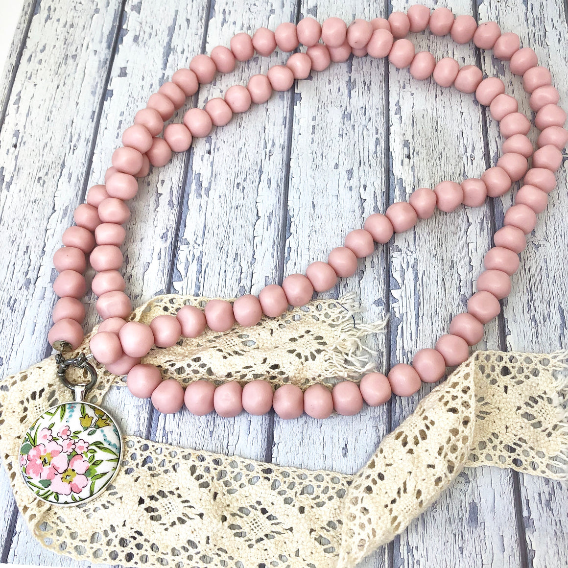 'Pebbles' Double Strand Blush Necklace