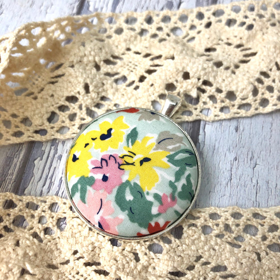 Watercolour Floral Pendant