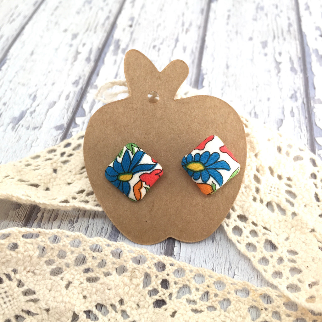 """Bridget"" Fabric Stud"