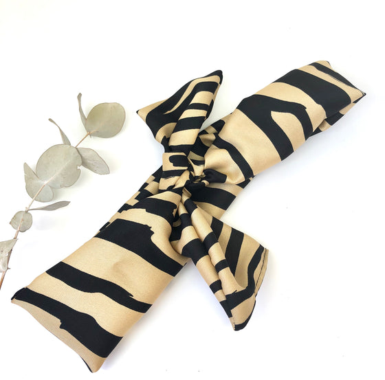Gold Zebra Straight Scarf