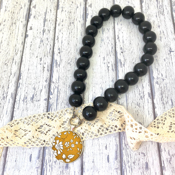 'Bedrock' Black Necklace