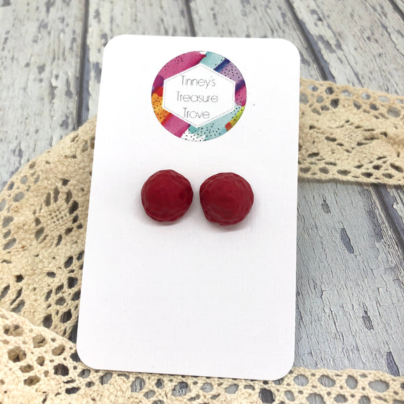 Ripe Raspberries Studs