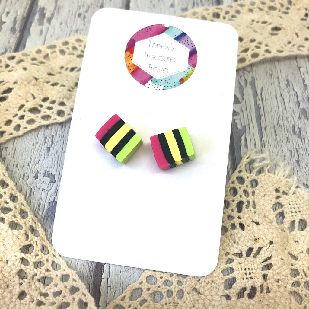 Licorice Allsort Studs