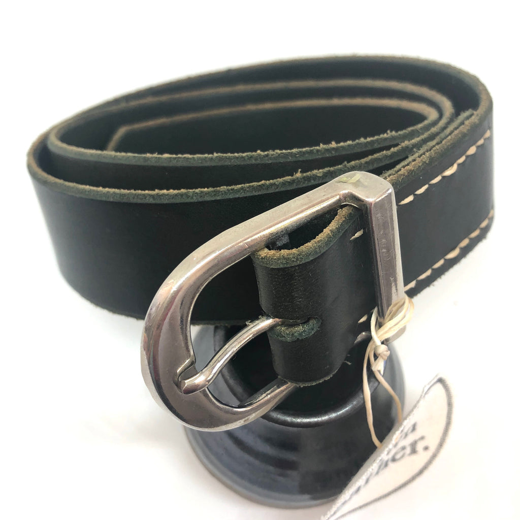Olive Leather with Silver Stirrup Buckle