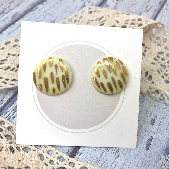 Ceramic Studs - Lemon Sprinkle