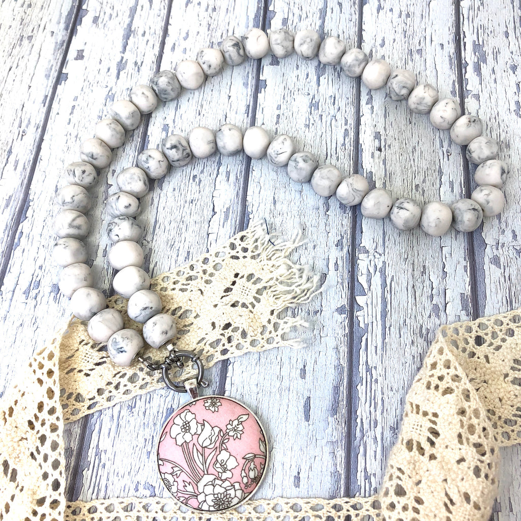 'Pebbles' Marble Necklace
