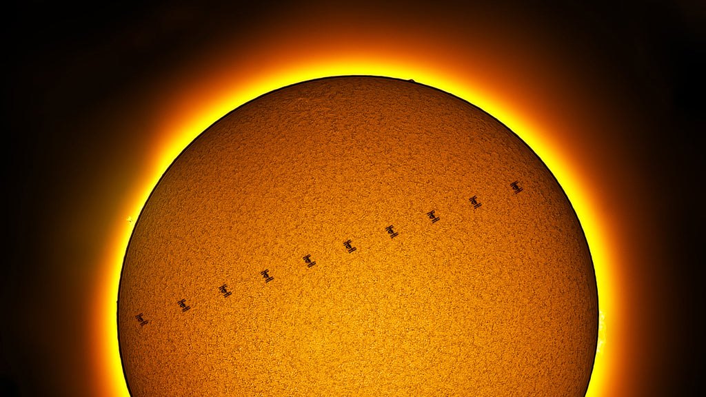 International Space Station passing in Front of the Sun by Mack Murdoc