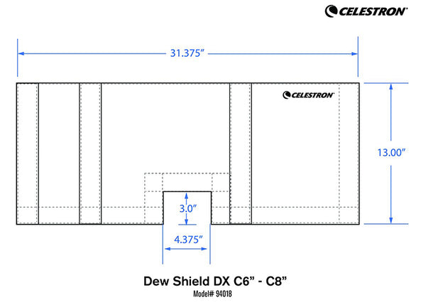 Celestron Deluxe Flexible Dew Shield -for C6 and C8-08
