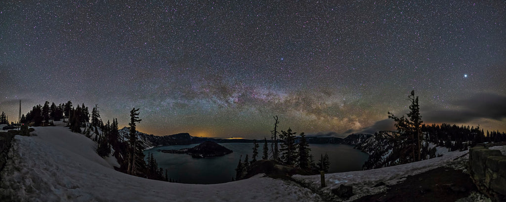 Chris Hendren Crater Lake Milky Way