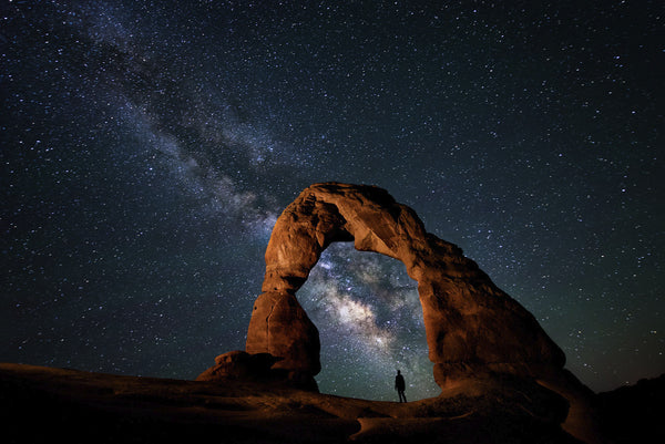 Delicate Arch Milky Way Galaxy Utah Travis Burke Photography