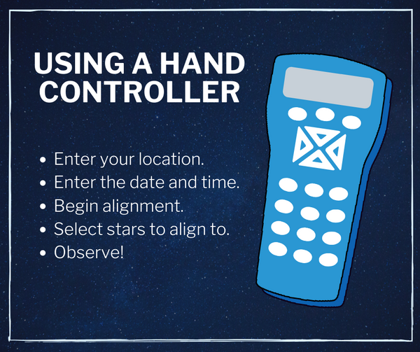how to use a hand controller - the easy beginner telescope guide