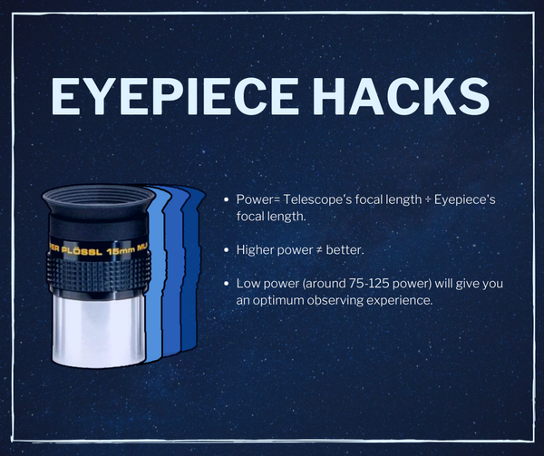 eyepiece hacks - easy beginner telescope guide