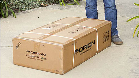 Orion StarSeeker IV 150mm GoTo Reflector Telescope-box