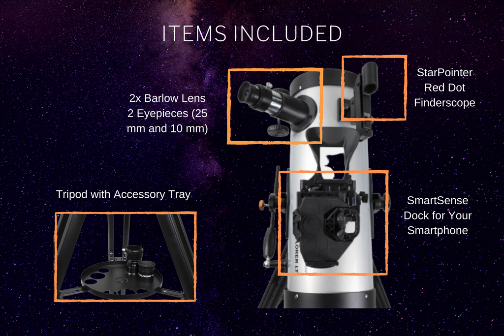 What's included with the Celestron StarSense Explorer