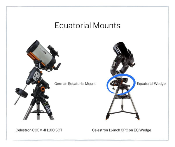 equatorial mounts example - easy beginner guide on how to use telescopes