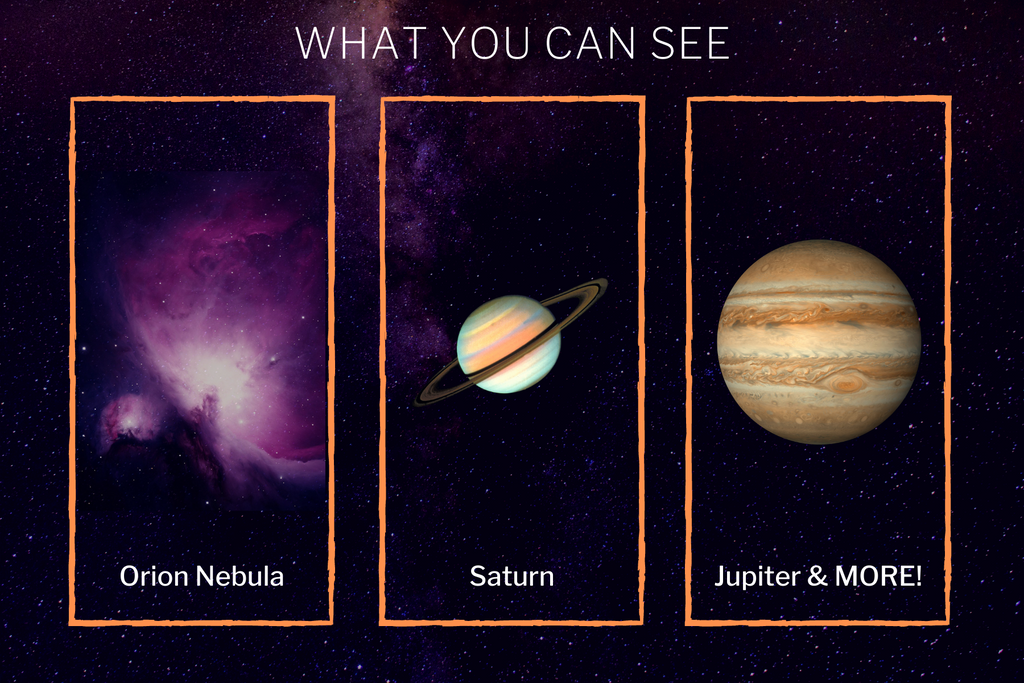 What you can see with the starsense celestron explorer