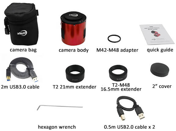 ZWO ASI 071 Included Items