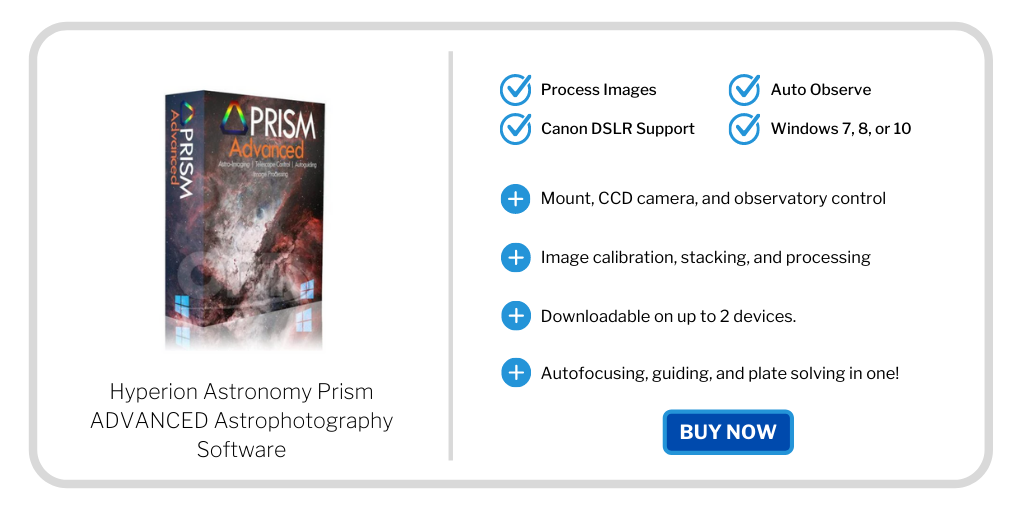 astrophotography gift guide - prism software