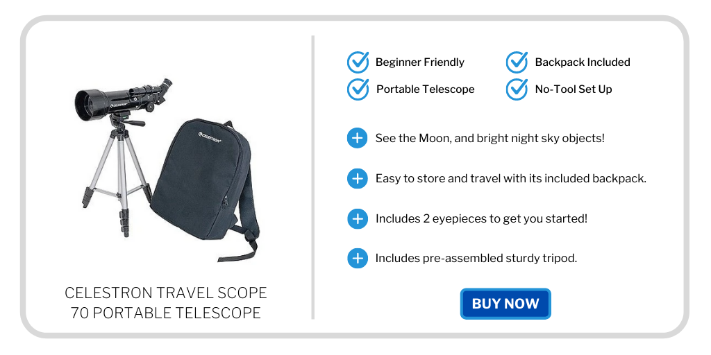 best beginner telescopes under 300 - celestron travel scope