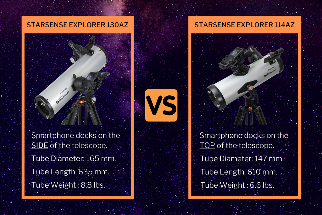 the difference between celestron starsense explorer a