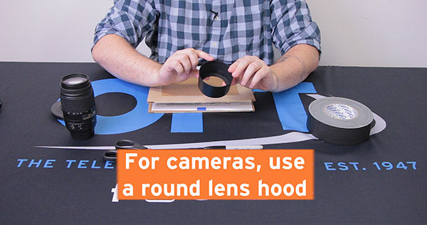for cameras use round lens hood