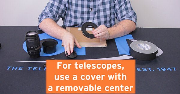 for telescopes use cover with removable center
