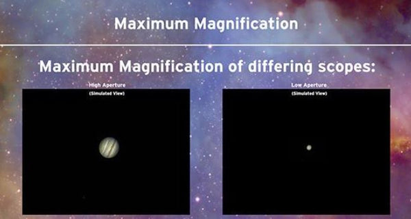 choosing the maximum magnification for your telescope- comparing sizes